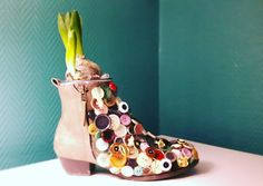 #hyacinth #buttons #shoe #floralart