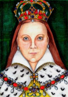 Queen Mary I of England at her coronation by RenatoDrummond on DeviantArt