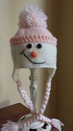 Miss Snowman Snowman, Winter Hats, Crochet Hats, Knitting Hats, Snowmen