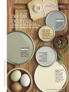 neutral kitchen colors | Earthy Neutral Color Scheme for a kitchen. | Decorating :: Paint Colo ...