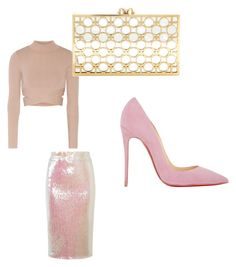 """""""Pink is for girls!!!!!"""" by taggedbykimmie15 on Polyvore featuring Jonathan Simkhai, Essentiel, Christian Louboutin and Charlotte Olympia"""