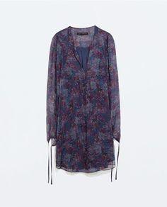 Size:xs http://www.zara.com/us/en/woman/dresses/printed-dress-with-tied-cuff-c269185p2327017.html