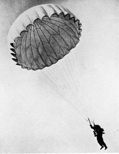 Parachutes for Sweet Landings :) This is a picture from a Parachuting Female soldier from World War 2. Lara is definitely sure to find many of these in the World War 2 Bunkers :)