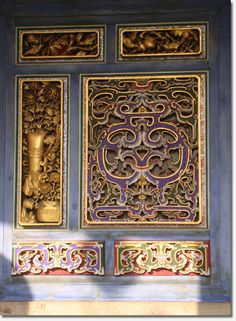 Typical Chinese architecture windows.