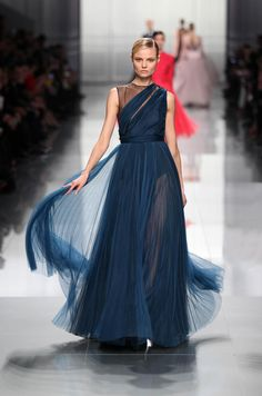 Dior Ready-to-Wear Fall Winter 2012 – Look 53: Teal silk dress. Discover more on www.dior.com