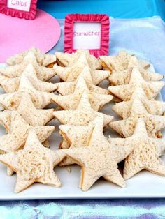 Starwiches at a under the sea mermaid birthday party! See more party ideas at CatchMyParty.com!