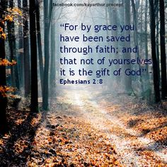 For by grace you have been saved through faith; and that not of yourselves it is the gift of God - Ephesians 2:8
