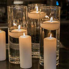 NEW 13bulk Cylinder Vases Wedding Glass Table Centerpiece Candle Holders (7.5in)