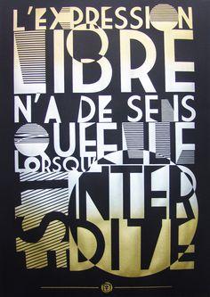 serigraphie affiche poster art typographie RNST NOIR et metal
