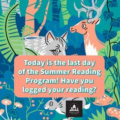 #SUMMERREADING PROGRAM HIGHLIGHT: It's the last day to log the minutes you read! Log into Beanstack or take your reading log to your library branch for assistance. Random drawings for those with 1,000+ minutes and Top Reader prizes are up for grabs! #SRP #SRP2021 #TailsAndTales Summer Reading Program, Programming, Jackson, Random Drawings, Highlight, Movie Posters, Top, Lights, Film Poster