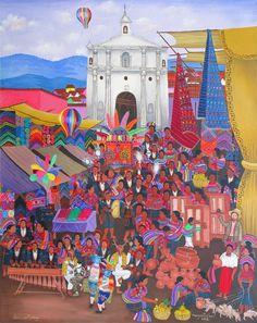 Enfrente de la iglesia.Margarito Chex Icu. Guatemala