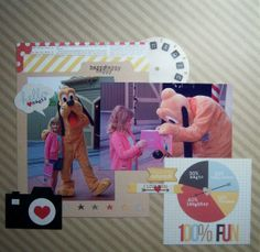 "Pluto Disney World Scrapbook Layout (scraplift from johnmac44 via twopeasinabucket.com  Disney Scrapbook Layout Simple Stories ""Say Cheese"""