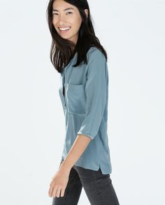 ZARA - NEW THIS WEEK - OVERSIZE SILK BLOUSE