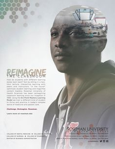 Rethink The Classroom Double Exposure Artwork Advertising Ad Campaign Rethink The Future Design Campaign Las Vegas Nevada South Jordan Utah Medical School Roseman University College Students