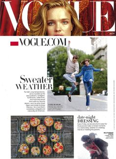 """Vogue.com features Lucky Brand denim in their November 2014 article on dressing for """"Sweater Weather""""."""