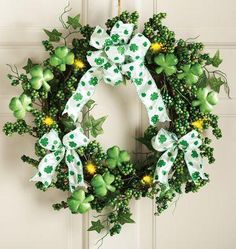 If you're looking for the perfect way to get your guests in the mood for some corned beef, cabbage and green beer before entering your living quarters, simply display this shamrock floral wreath on your door. This wreath is lit by LED lights for ultimate lifespan, powered by AAA batteries and is priced at just $14.99. Incoming search terms:floral park st patricks day 2015irish wreath for st patricks day
