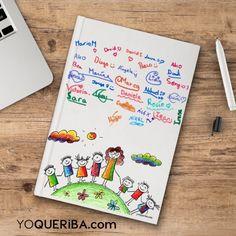 Crea un Cuaderno Personalizado, el Regalo Perfecto para el Profe, además el cuaderno, lo recibiras una bolsa /neceser de regalo con el nombre del profe. En grupo, con todos los papás de la clase o tu solo, este cuaderno es un recuerdo para ese profesor que nunca olvidará