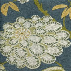 """Contents: 60% Viscose/40%Polyester             Width: 54""""         Vertical Repeat: 24.5""""         Horizontal Repeat: 28.25""""         Cleaning: Dry Cleaning Recommended         Description: Thiswovenfloral in blue, yellow, green andcream will make that wingback chair Pop! Cover any piece of furniture, pillowsorwindow treatments in this fabric for a bright modern look to any room in the house. Pair it with a solid to add another touch of color.         v117             ..."""