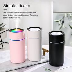 Humidifier Essential Oils, Essential Oil Diffuser, Mini Office, Office Desktop, Night Lamps, Air Purifier, Air Freshener, Mists