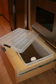 This might be the best idea ever. I hate ugly dog food containers.