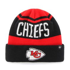 promo code 594fa 215b6 Kansas City Chiefs Rift Cuff Knit Torch Red 47 Brand Hat