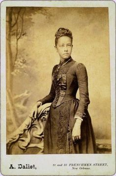 19th century New Orleans Creole lady. http://www.safero.org/family/charbonnethistory1.html