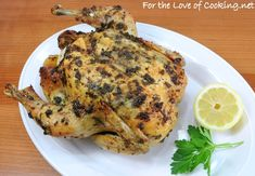 Herb Roasted Whole Chicken with fresh herbs, cooked in oven Family Loved it- Whole Roasted Chicken, Stuffed Whole Chicken, Roast Chicken, Beef Recipes, Chicken Recipes, Duck Recipes, Turkey Recipes, Types Of Salad Dressing, Cooking Herbs