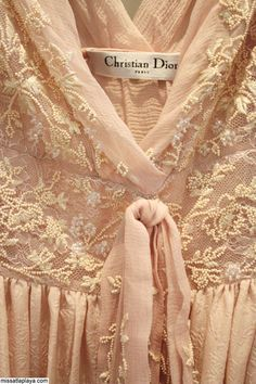 Very delicate embroidery on a Dior piece...