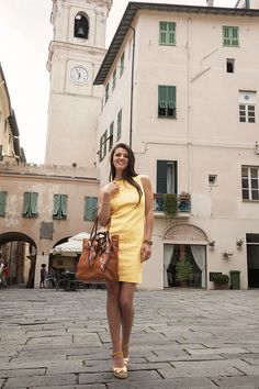 Day Dresses, Summer Dresses, Dress Suits, Resort Wear, Dress First, Yellow Dress, Color Trends, Summer Collection, Editorial Fashion