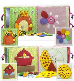 Calme livre actif en tissu est recommandé pour les enfants de 1 an. Le livre a un sac pour rangement et transport facile. Il se compose de 7 feuilles. Sur chaque 12 pages il existe différents types de boucles : -Velcro -Boutons -Boutons -Lacets -Fermeture à glissière -Pins -Fil La couverture rigide de la livre actif contient également des éléments en développement sur Velcro, mini labyrinthe avec une coccinelle, boutons et rubans. Vous pouvez entrer dans nimporte quel titre du livre. Livre…