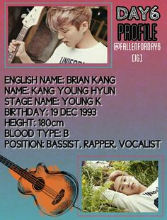 DAY6 PROFILE #DAY6 #JYP #KPOP
