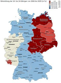 Map of Germany, East and West