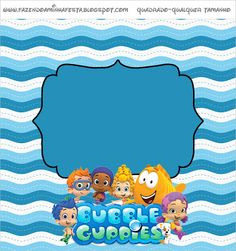 Right click and save as (site is in spanish) Bubble Guppies, Party Printables, Free Printables, Guppy, Bar, Birthday Decorations, Bubbles, Snoopy, Kids Rugs