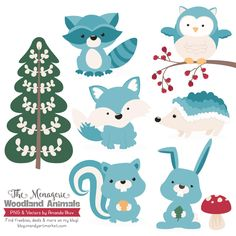 woodland animals with commercial use included? You asked, we provided! We love the fun faces and cute characters included in this fairytale like pack of critters.
