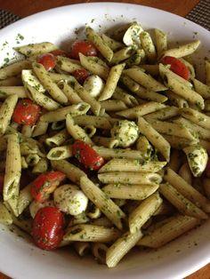 Mozzarella and Tomato, Pesto, Pasta Salad
