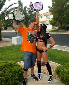 @brittnisacco My boyfriend and I as John Cena and Nikki Bella for Halloween…