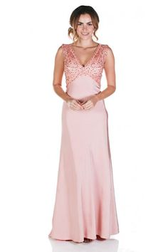 Clarisse M6248 Modern Beauty Empire Gown $85 Rental Blush Pink Gown, Pink Dress, Pink Lace Dress, Pink Prom Dress, Blush Prom Dress, Mother of the Bride, MOB Dress