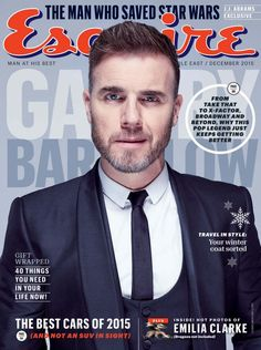 Gary Barlow on the cover of Esquire Middle East December 2015 after winning International Man of the Year