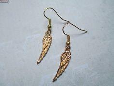 Ohrringe Flügel Gold Engel