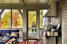 Hillside Residence Hanover NH - contemporary - porch - burlington - by Smith Vansant Architects PC Quartz Backsplash, Backsplash For White Cabinets, Beadboard Backsplash, Stone Backsplash, Herringbone Backsplash, Backsplash Cheap, Black Backsplash, Mirror Backsplash, Dark Cabinets