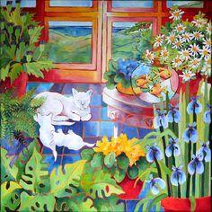 Cat with Kittens - Yelen Jo-Anne