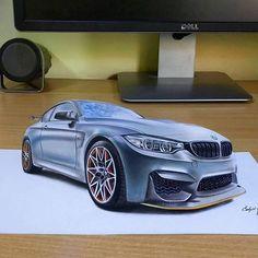 My new 3D artwork, BMW M4 GTS! Mixed media on A3 white paper, @kksigs hope you will like it   #bmw #bmwm4 #bmwm4gts #drawing #drawtodrive #art #artwork #cardrawing #3d #trickart #supercars #realistic #artstudio #artfido #drawsofinsta #dailyart #customwork #amazing #srbija