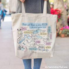 Bolso-Dime qué llevas en esta bolsa y te diré quién eres. #mrwonderful