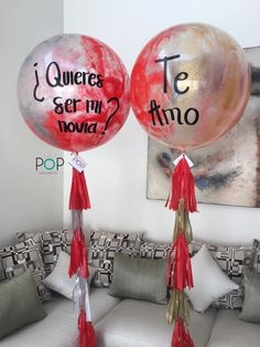 Balloon Decorations, Flower Decorations, Happy Birthday Colleague, Girlfriend Proposal, Giant Balloons, Love Is Sweet, Party Time, Valentines Day, Christmas Bulbs