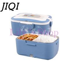 1.5L Mini Lunch box stainless steel liner electric food heating insulation boxes for home and car use EU US plug 220V 12V 24V