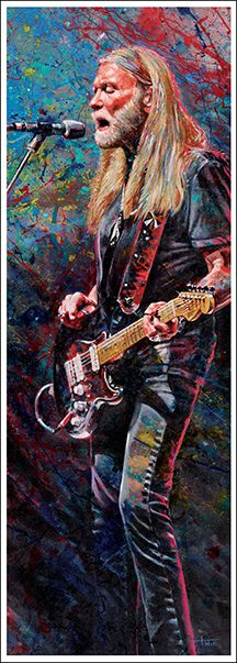 Gregg Allman by Tom Noll, Art That Rocks http://www.tomnoll.com/art-prints/