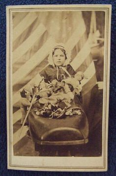 "CDV Civil War Sanitary Fair ""Old Woman in Shoe"" w US Flag Dolls   eBay"