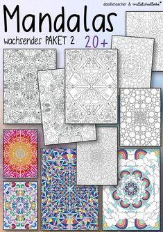 Vorschau - Arbeitsblätter - Mandalas - Wachsendes Materialpaket 2 - Deckblatt