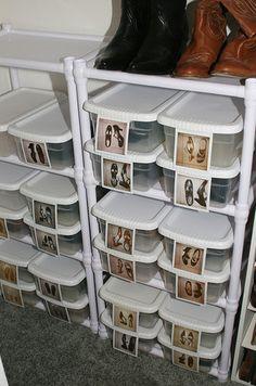 Ropa almacenaje zapatos on pinterest shoe storage shoe racks and zapatos - Almacenaje zapatos ...