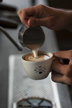 Espresso with cream.  Source: bungalowclassic - http://bungalowclassic.tumblr.com/post/73300182916